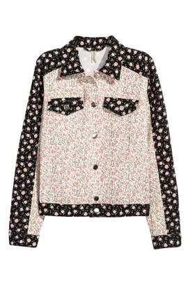 H&M Denim Jacket - White/floral - Women