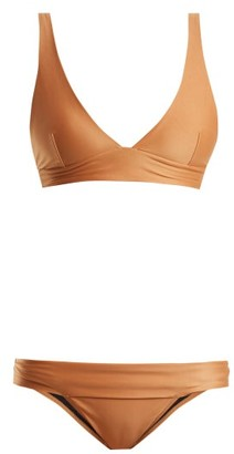 Haight - Low Rise Triangle Bikini - Womens - Gold