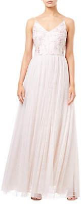 Adrianna Papell Spaghetti Strap Long Dress, Pink