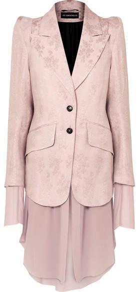 Rosalia Layered Brocade And Chiffon Blazer - Pink