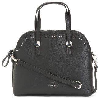 Abigail Satchel With Detailing And Crossbody Strap
