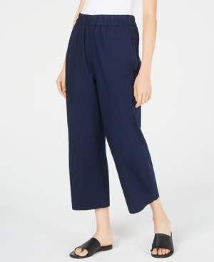 Eileen Fisher Organic Cotton Wide Leg Cropped Pants