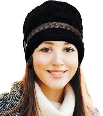 Fashionable Lifeshop Women's Winter Beanie Headwear Hat - Black
