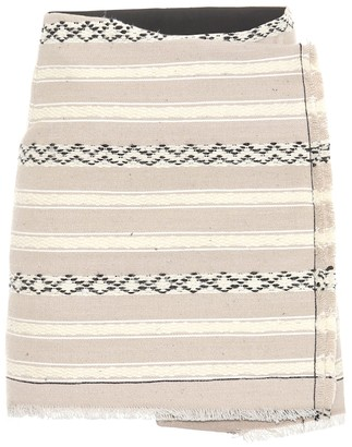 Saint Laurent Wool and cotton wrap skirt