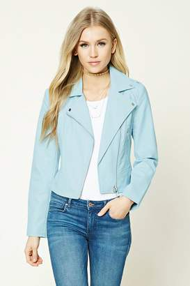 FOREVER 21+ Faux Leather Moto Jacket $37.90 thestylecure.com