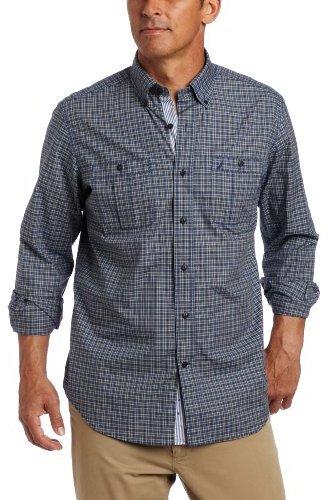 Nautica Men's Long Sleeve Mini Saturated Check Shirt