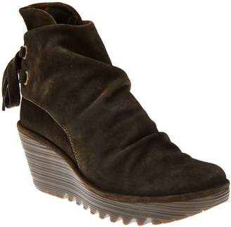Fly London Suede Wedge Boots - Yama