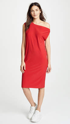 Norma Kamali Drop Shoulder Dress