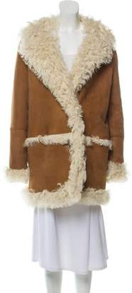 Yves Salomon Shearling Knee-Length Coat