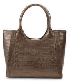Nancy Gonzalez Textured Crocodile Top Handle Bag