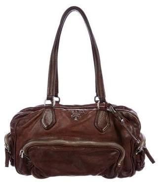 Prada Washed Leather Bowler Bag
