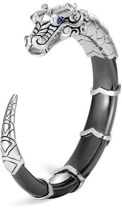 John Hardy Sterling Silver Legends Naga Cuff with Hematite, Mother-of-Pearl & Blue Sapphire