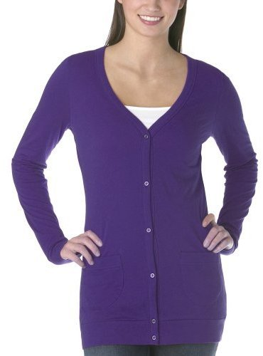 Juniors' Mossimo Supply Co. Knit Cardigan - Purple Orchid