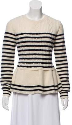 RED Valentino Virgin Wool Long-Sleeve Sweater