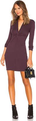 Enza Costa Rib Twisted Mini Dress
