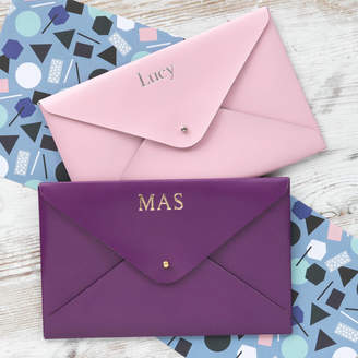 STUDY BeGolden Personalised Small Leather Wallet