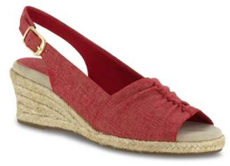 Easy Street Shoes Kindly Espadrille Wedge Sandal