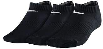 Nike Cotton Cushion 3 Pack Youth No-Show Socks