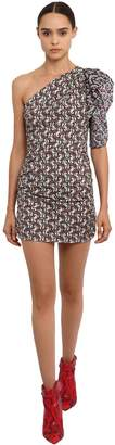 Etoile Isabel Marant Lilia Printed One Shoulder Cotton Dress