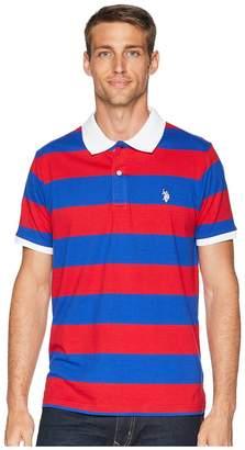U.S. Polo Assn. Jersey Stripe Polo Shirt Men's Short Sleeve Pullover