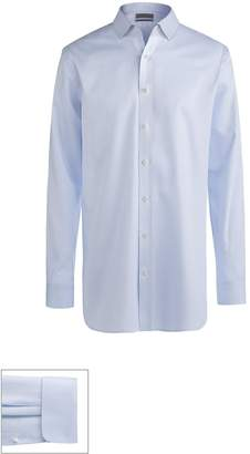 John W. Nordstrom R) Made to Measure Extra Trim Fit Short Spread Collar Dobby Dress Shirt