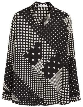 Violeta BY MANGO Geometric print shirt