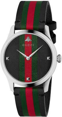 Gucci 38MM G-Timeless Striped Band Watch