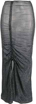Oseree metallic gathered skirt
