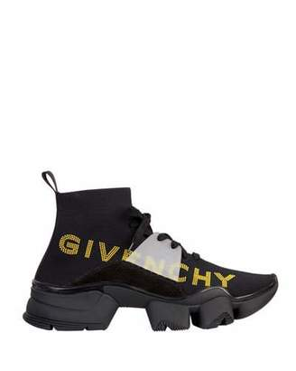 Givenchy Men's Jaw Sock Sneakers w/ Logo Embroidery