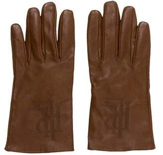 Lauren Ralph Lauren Leather Logo Gloves
