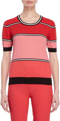 Atos Lombardini Stripe Short Sleeve Sweater