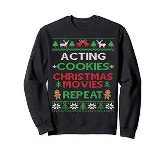 Acting Class Ugly Christmas Sweatshirt Stage Actor Gift