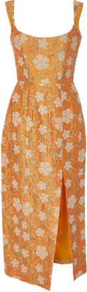 Markarian Exclusive Kanara Embroidered Silk Midi Dress