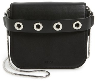 Allsaints 'Ikuya' Leather Clutch - Black $198 thestylecure.com