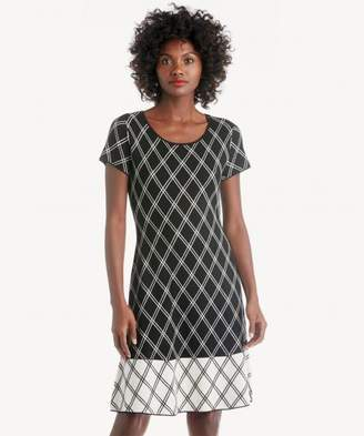 Sole Society Jacquard A-Line Sweater Dress