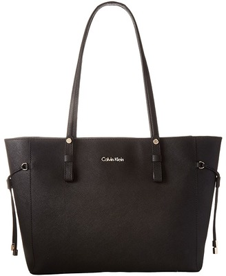 Calvin Klein Key Item Leather Tote H4AA12GM $228 thestylecure.com