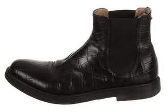 Calvin Klein Collection Alligator Chelsea Boots