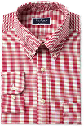 Club Room Men Slim Fit Performance Mini Gingham Dress Shirt