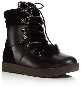 UGG Vicki Waterproof Leather & Sheepskin Boots