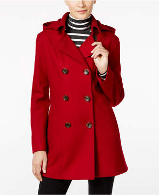 Nautica Wool-Blend Hooded Peacoat $225 thestylecure.com
