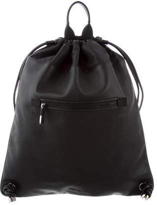 Christian Dior Leather Drawstring Backpack