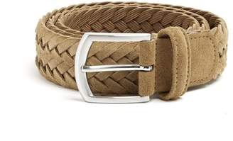 Andersons Anderson's - Woven Suede Belt - Mens - Olive