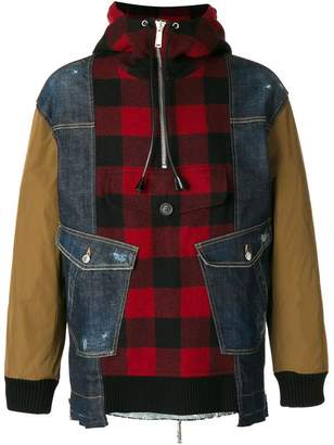 DSQUARED2 lumberjack shirt panel jacket