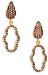 Azaara 22K Yellow Gold Dipped Cutout Drop Earrings
