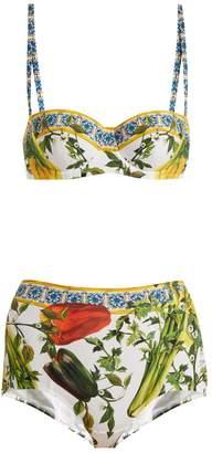 Dolce & Gabbana Pepper-print bikini set