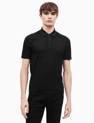 Calvin Klein merino wool blend contrast polo shirt