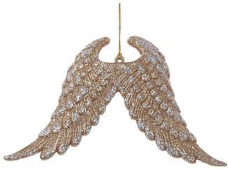 Kurt Adler Plastic Glitter Angel Wings Ornament