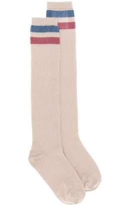 RED Valentino contrast stripe long socks