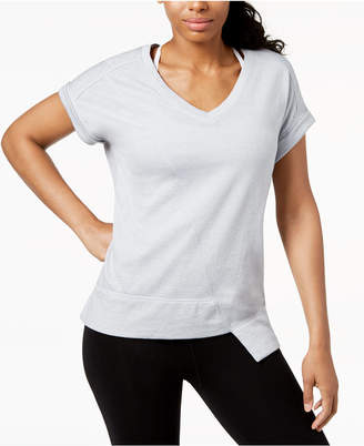 Calvin Klein V-Neck Asymmetrical-Hem Top