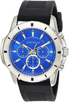 Bulova Caravelle Men's Quartz Stainless Steel and Silicone Watch